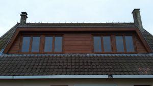Réfection de belle voisine en PVC chêne doré