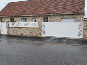 Ensemble de clôture façade alu