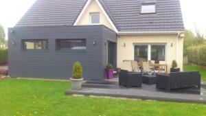 Extension et terrasse composite