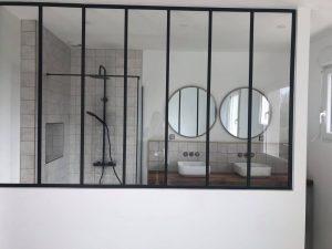 Réfection de salle de bains & pose de verrière